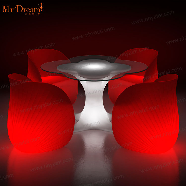 Mr.Dream remote control color changing waterproof outdoor night club acrylic led glowing chair(accept customized)