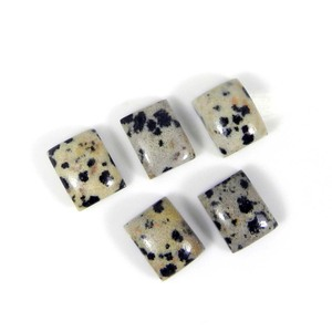 Indian fashion gemstone dalmatian jasper 9x7mm octagon loose gemstone