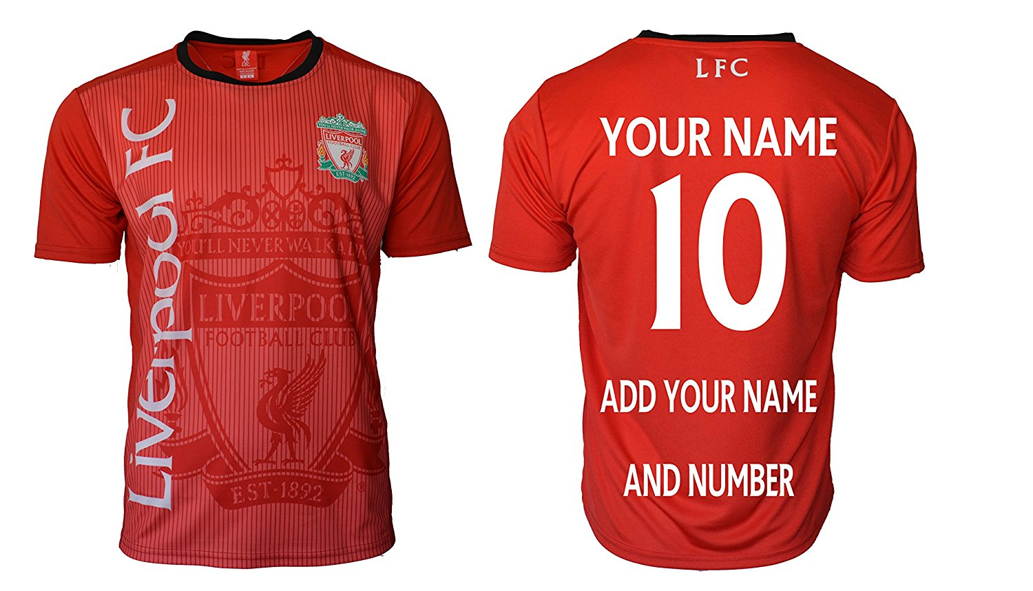 f7fbf42d2 Get Quotations · Liverpool Soccer Jersey Adult Men s Training Custom Name  and Number