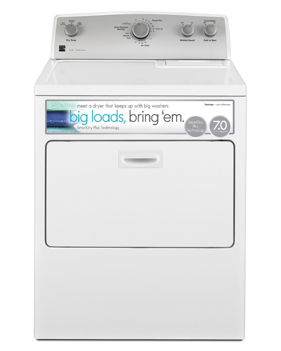 Gas Dryer with SmartDry Plus Technology in White,