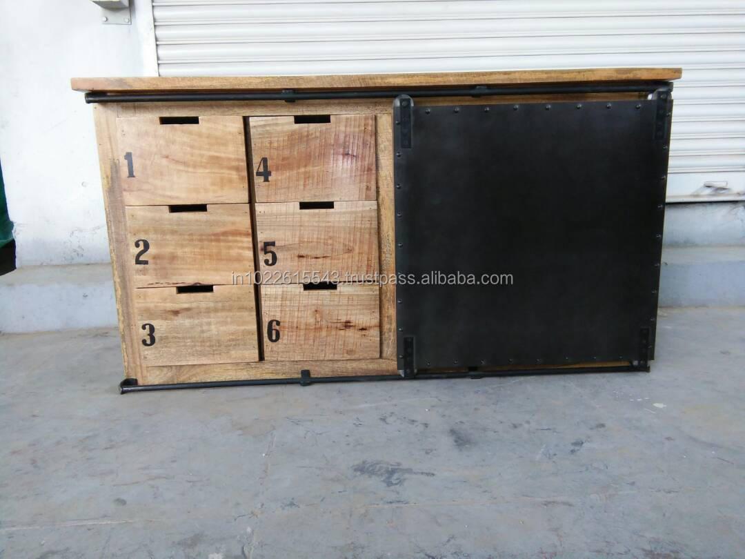 Mobili Legno Recuperato : Antico legno di recupero cassettiera vintage mobili in legno di