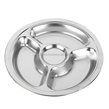 3 Compartment Stainless Steel Mess Dish Tray