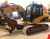 Running condition 12t Japanese used cat 312C excavator for sale in Shanghai site