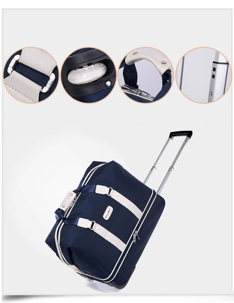 Double layer golf travel bag men and women carry bag with wheel