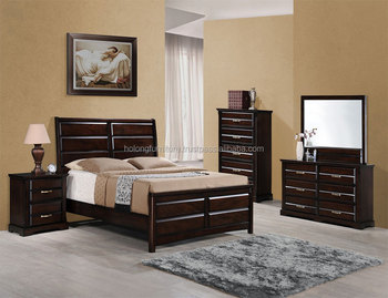 Modern And Quality Wooden Bedroom Set With Solid Wood Bed Frame