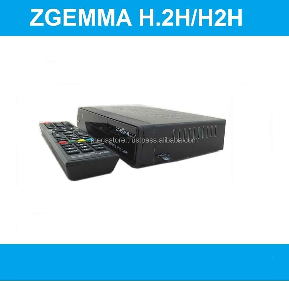 Multisteam TV Zgemma H2H Combo DVB-S2 DVB-T2 Linux KODI Satellite Receiver.