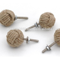 Jute Rope Cabinet Knobs Nautical Decor