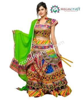 f3e6913c2b Indian Ethnic Banjara Style Chaniya Choli - Embroidered Navratri Ghaghra  Choli - Gujarati Dandiya Dance Costume