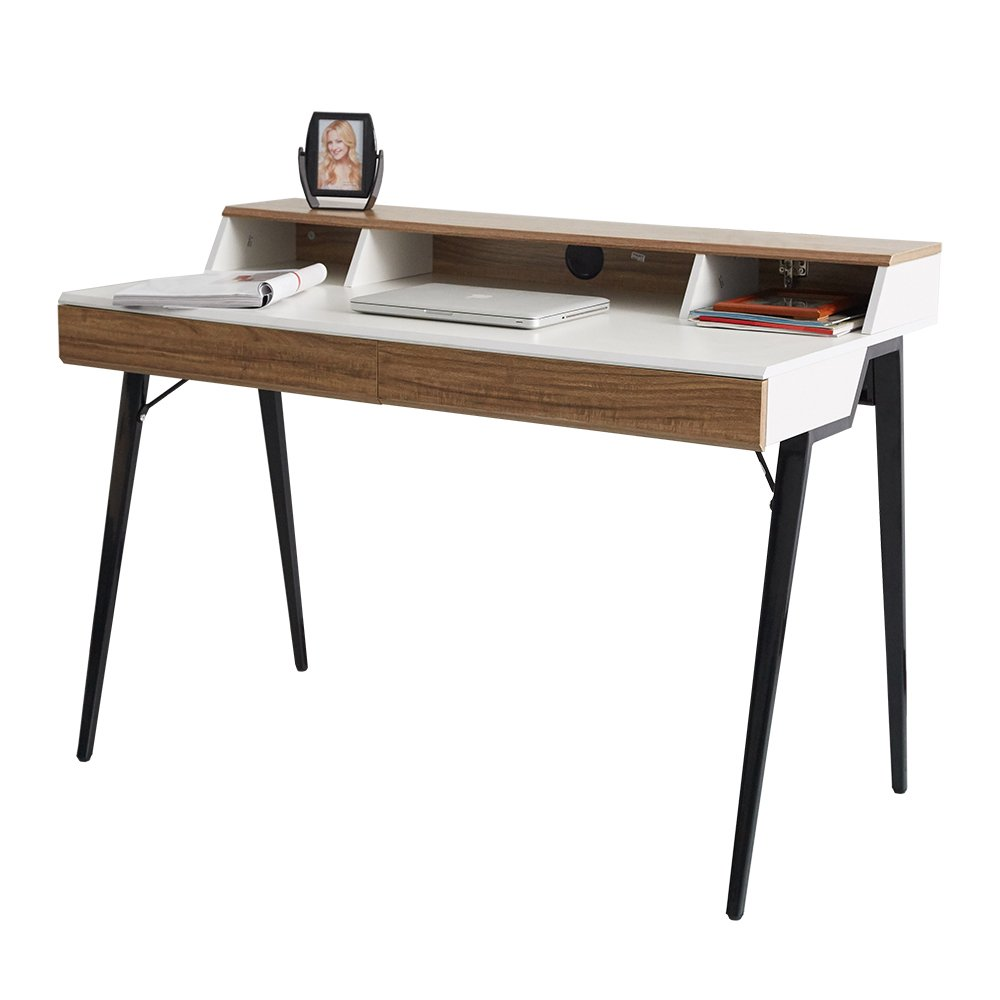 Get Quotations · KARMAS PRODUCT Computer Desk Office Table Wooden Table  With Two Drawers Home Use Computer Table For