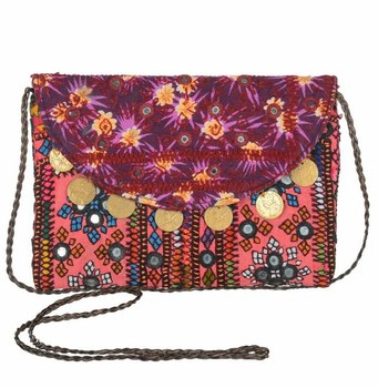 9aa91a6b33 Handmade indian hand bag embroidered mirror work ladies sling bags women  handbags