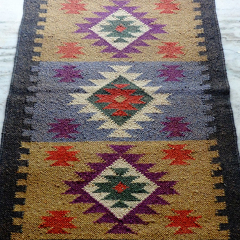 Vintage Kilim Rug Decorative Jute Fabric Rugs Carpets Handmade India Runner Carpet
