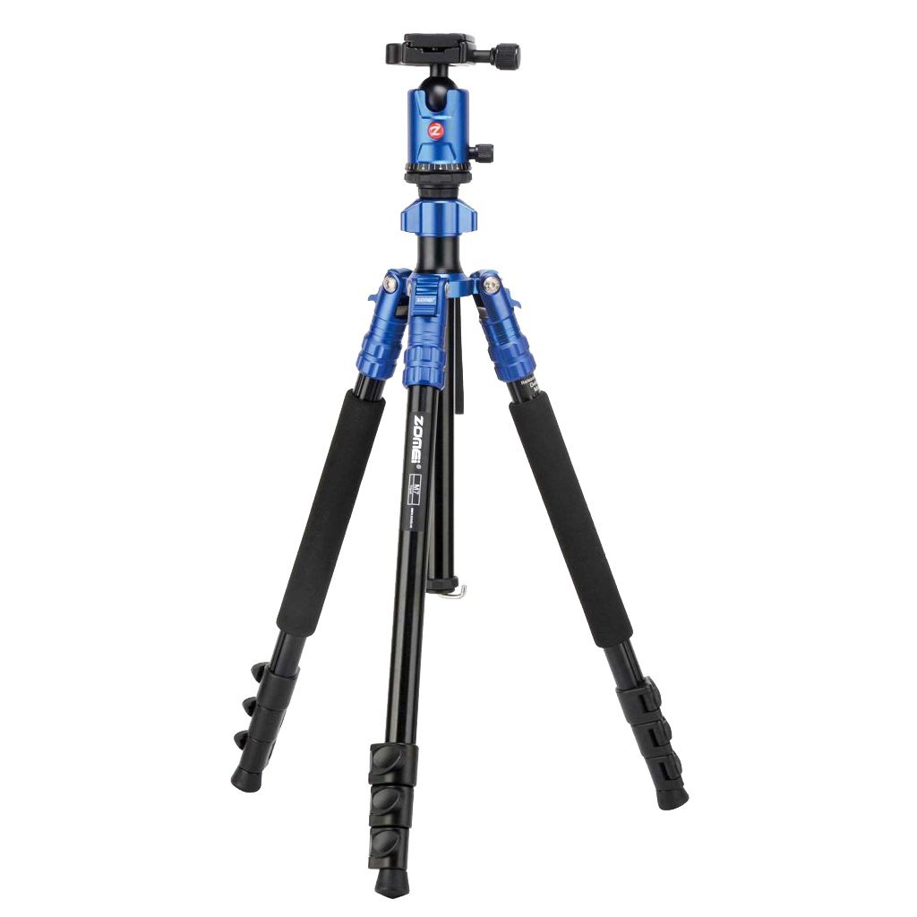 Dovewill Zomei Camera Tripod 65-inch Lightweight Tripod Aluminum Portable Detachable Monopod, 360 degree Ball Head with Carrying Bag for DSLR Cameras DV ( Blue)
