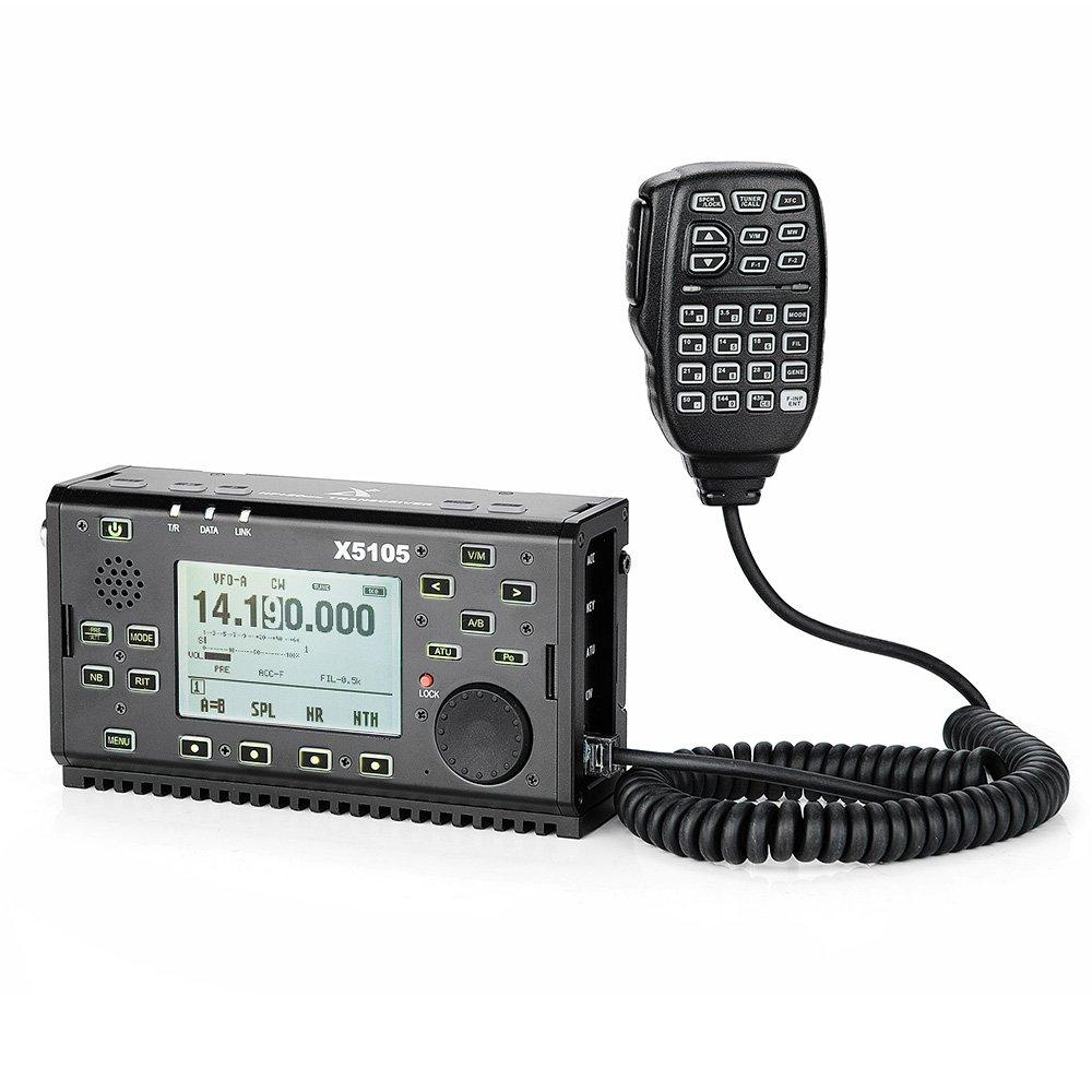 Get Quotations · XIEGU X5105 Portable HF Transceiver OUTDOOR VERSION,  500kHz-30MHz 50MHz-54MHz 5W 3800mAh