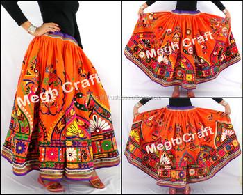 51a5e13d12 Indian Vintage Banjara Skirt - Traditional Navratri Skirt -Vintage Rabari  Skirt -Kutch Hand Embroidered