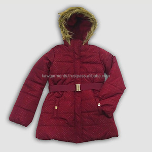Girls Teenager Padded With Hoodies Jacket