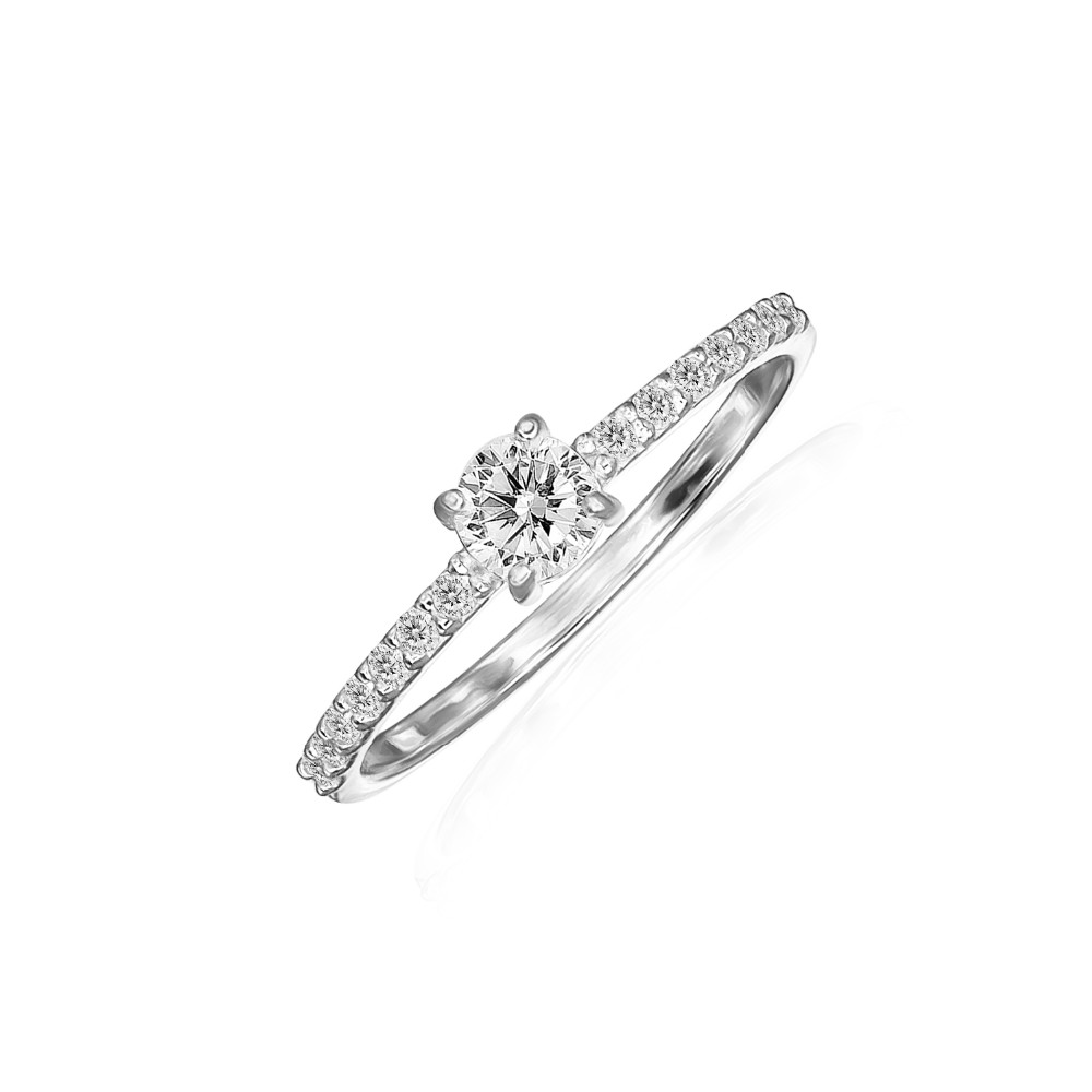 Sterling Silver 4mm Round Cut Solitaire Cubic Zirconia Engagement Bridal Rings For Women Buy Wedding Ring Engagement Ring Silver Ring Product On Alibaba Com