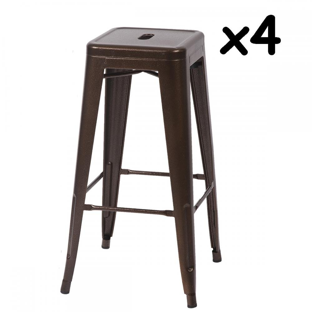 Get Quotations Metal Stools Bar 30 Inch Height Stackable Barstools Indoor Outdoor Dining Backless Kitchen