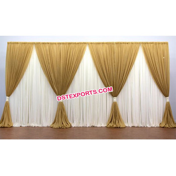 Golden Wedding Mandap Backdrop