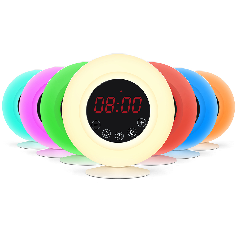Stazione meteo alba wake up luce da tavolo a led digital alarm clock