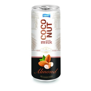 Wholesale 250ml Can Coconut Milk with Almond HALAL
