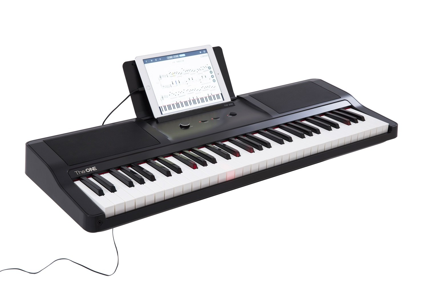 Smart Piano Keyboard 61-Key Portable Light Keyboard,Electronic Keyboard Digital Piano Music LED,Great for Beginner-Kids/Adults Learing/Training (Black)