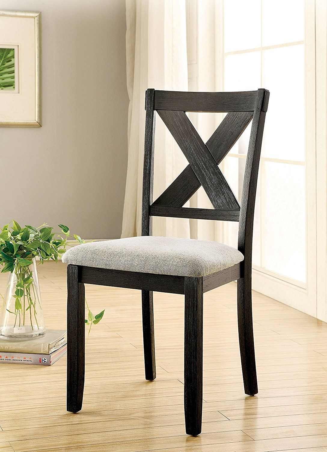 Get Quotations Furniture Of America Zarine Fabric Padded Dining Chair