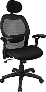 """Flash Furniture Black Mesh Chair Overall Dimensions: 27.25""""W X 25""""D X 41.9-48.2""""H Seat Size: 20.5""""W X 19.25""""D Back Size: 20""""W X 25""""H Overall Height: 41.9"""" - 48.2""""H - Black"""