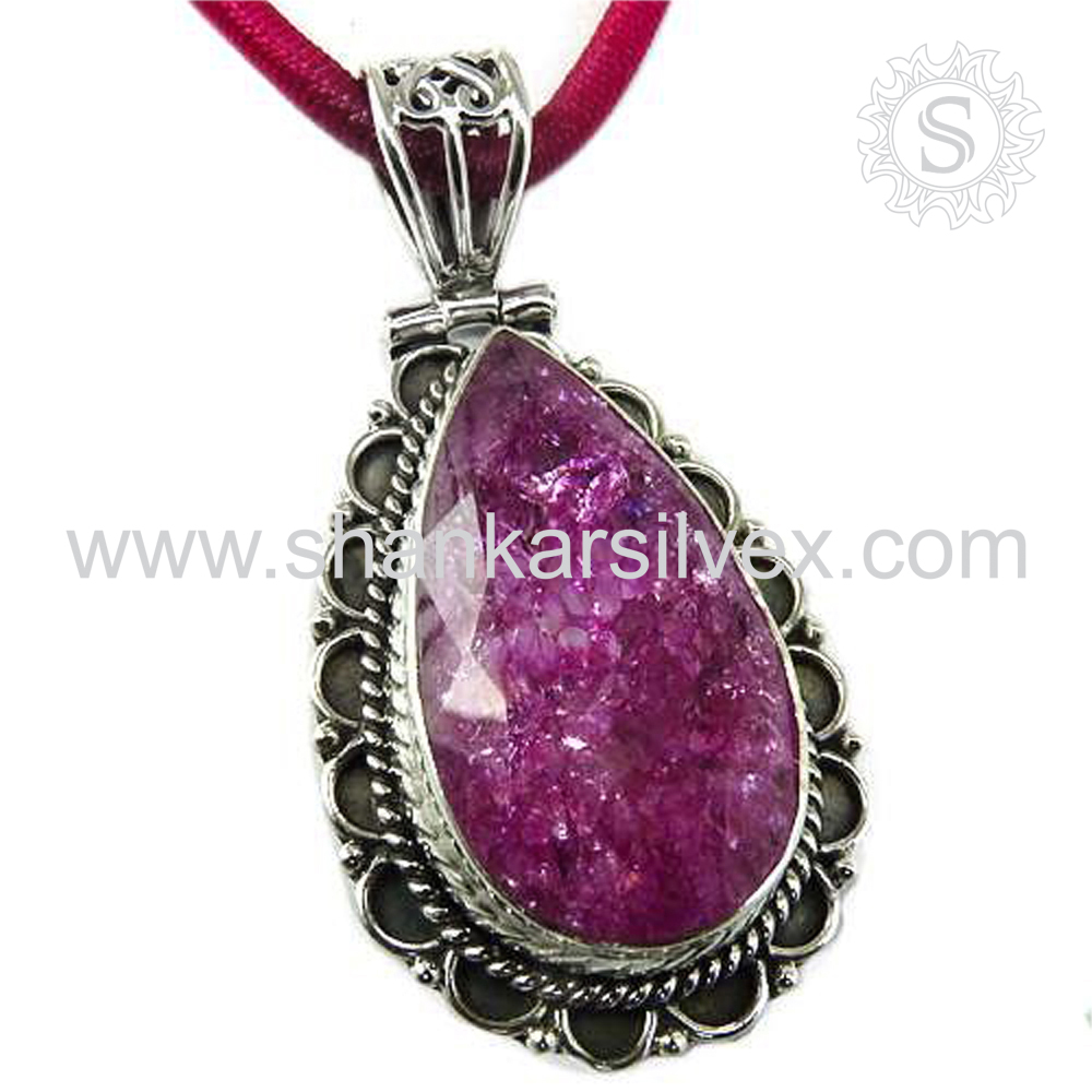 Imperious star onyx gemstone silver pendant 925 sterling pendants wholesale jewellery online supplier