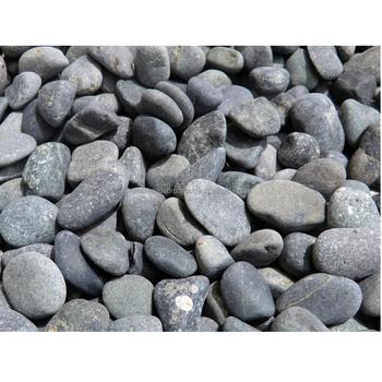 Black Beach Pebble Cobble Stone