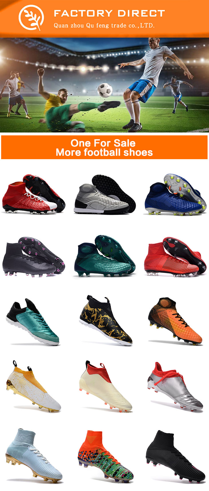 324c8bea807 Men Sports High ankle indoor Football boots shoe Messi CR7 Turf Soccer Shoes