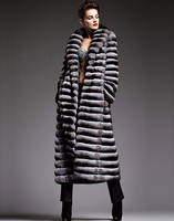 Brand New Custom Wholesale Chinchilla Fur Coat for Women