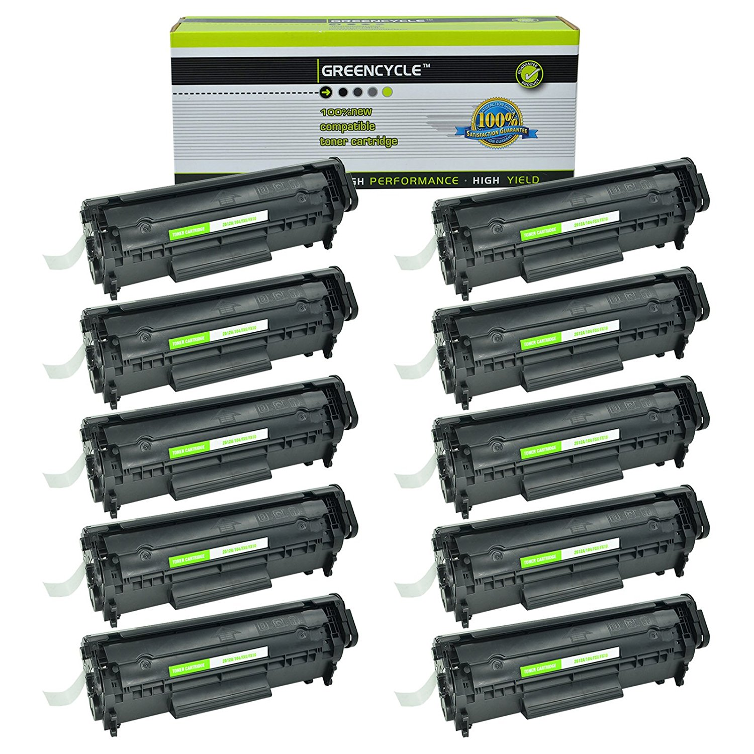 Cheap Hp 12a Laserjet Toner Find Deals On 43x High Yield Black Original Cartridge C8543x Get Quotations Greencycle 10 Pack Q2612a Compatible For 3052