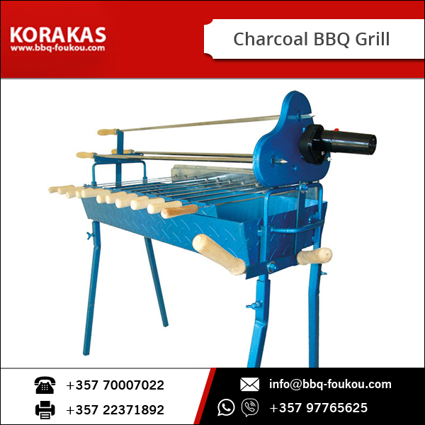 Sturdy BBQ Table for Rotisserie/ Charcoal BBQ Grill with Electric Motor