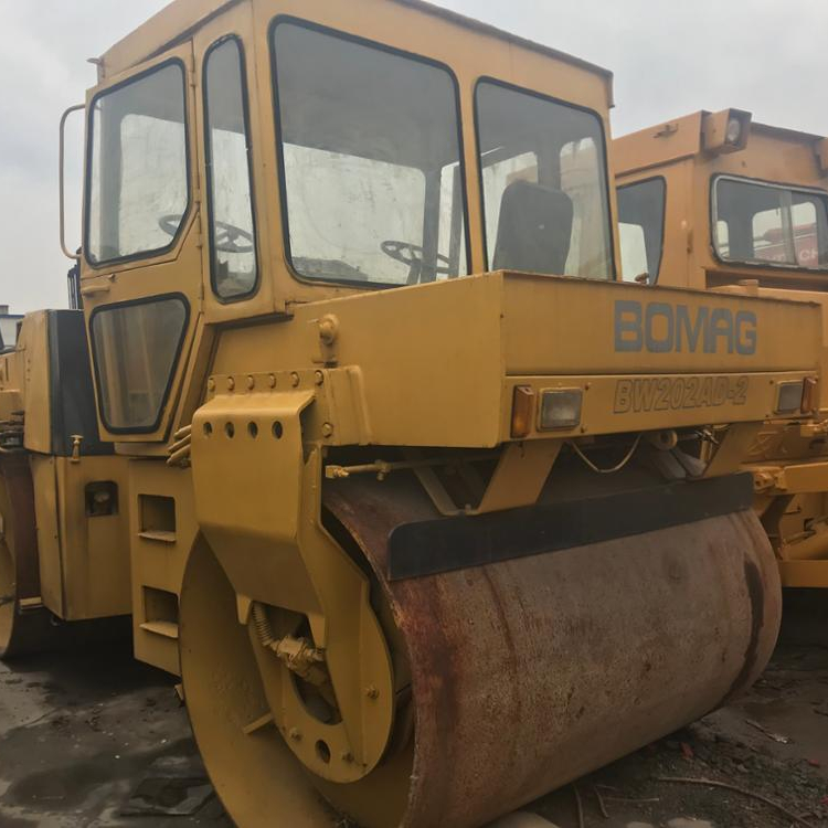 Used road roller BOMAG BW202 Used compactor BOMAG BW 202 AD Heavy Articulated Steered Tandem Rollers