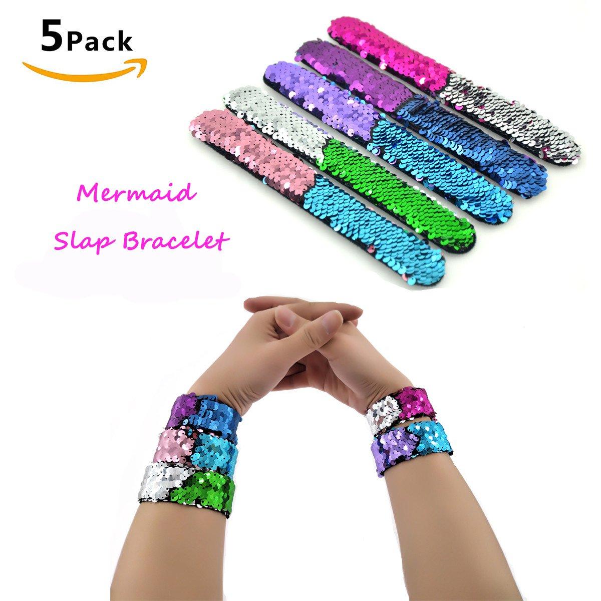 Mermaid Slap Band 8513 Bracelet Bracelets Snap Bracelet Kids Fun Coloré