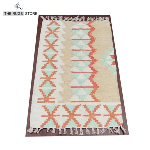 Hand woven cotton TRS-23 indian dhurrie kilim runner rug