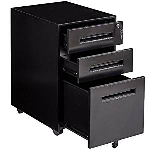 Get Quotations Black 3 Drawer Mobile Rolling File Storage Cabinet Heavy Duty Metal Construction Durable And Sy Home