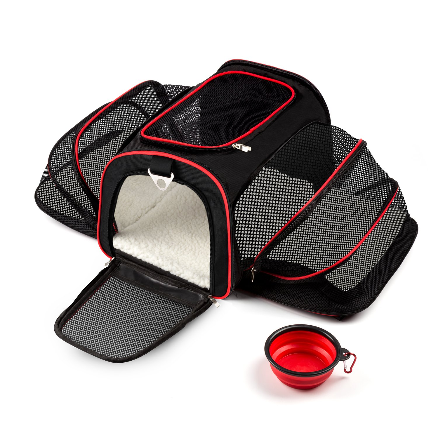 PETPAWJOY Cat Carrier, Airline Approved Pet Carrier Dog Puppy Carriers, Dog Travel Bag for small Dog & Cats