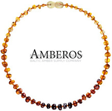 www.Amberos.LT - AMBEROS Baltic Amber Teething Necklace for Teething Babies