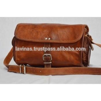 47276899611 echt leer dames tas vintage ronde handtas bruin winkelen draagtas handtas  uit india
