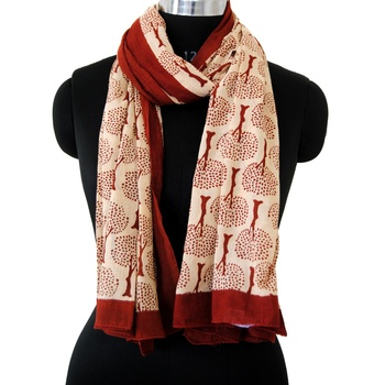 Wholesale summer scarf hand block printed scarf women sarong