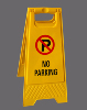 64cm height A frame safety wet floor warning road sign