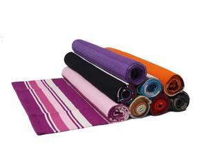 private label washable cotton yoga rug