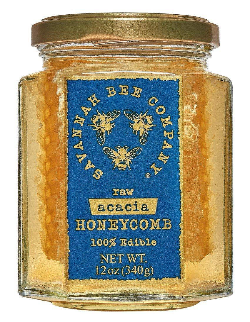 Savannah Bee Acacia Honeycomb in a Jar 12 oz.