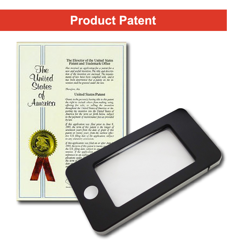 Smartphone shaped Handheld Magnifier with Bright LED Lights for Reading