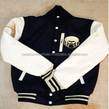 Custom Varsity Letterman Jackets / Baseball Jackets / Melton Wool Body & Leather Sleeves Customized Varsity Jackets