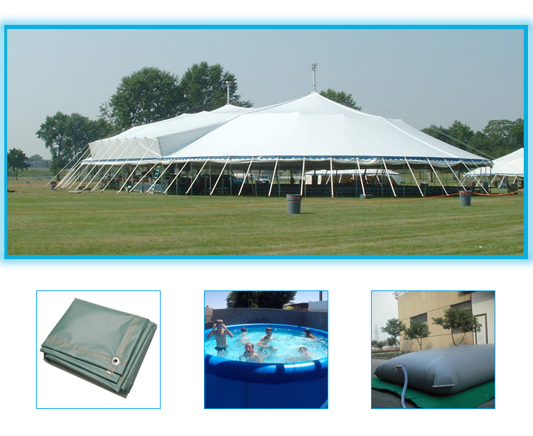 500D heavy duty truck pvc canvas tarpaulin tent awning material for sunshade