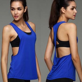 c039b0db682b8 Bodybuilding Gym Singlet for women  Stringer Vests  Plain cotton gym tank  tops