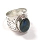 Labradorite Cabochon Stone Ring Whole sale Sterling Silver Rings