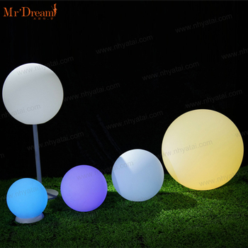Foshan supplier illuminated waterproof outdoor indoor beach light led ball